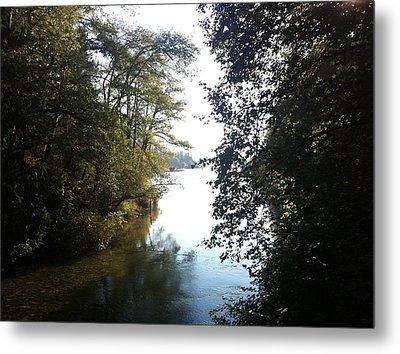 Crescent Lake Thru The Trees Metal Print