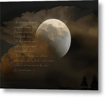 Cresent Moon  Metal Print
