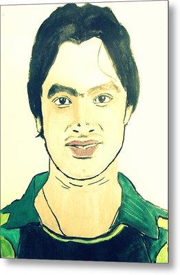 Cricket Player-imran Nazir Metal Print