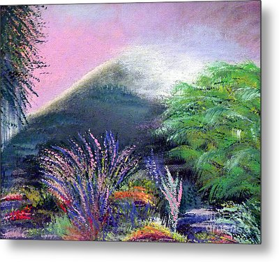 Metal Print featuring the painting Croagh Patrick by Alys Caviness-Gober