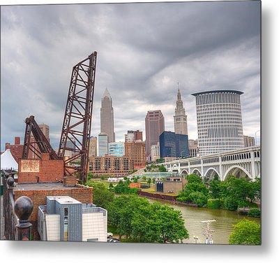 Crooked River Bridge Metal Print