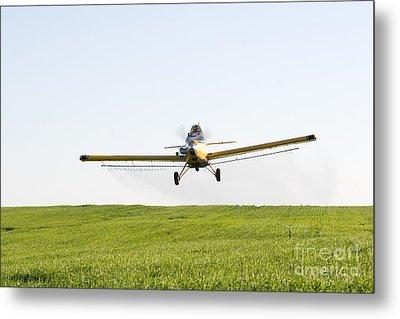 Crop Duster Metal Print by Cindy Singleton