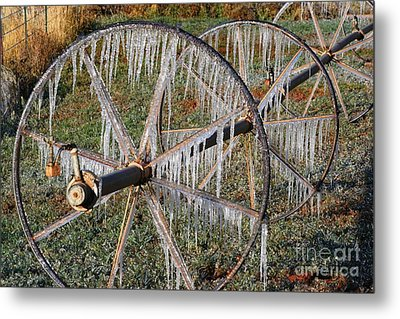 Metal Print featuring the photograph Crops Of Ice #2 by Nola Lee Kelsey