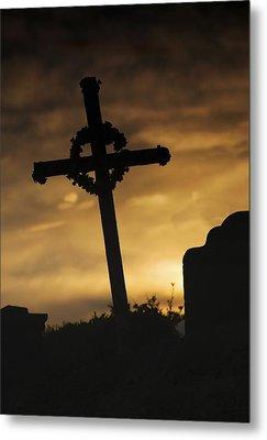 Cross At Sunset Metal Print by John Short