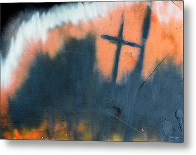 Metal Print featuring the painting Cross by Chriss Pagani