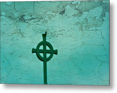 Cross Metal Print by Debbie Sikes