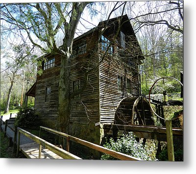 Metal Print featuring the photograph Cross Eyed Cricket Grist Mill by Paul Mashburn