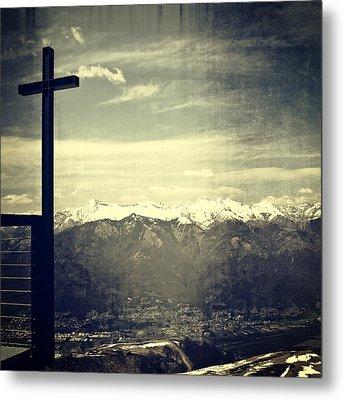 Cross In The Sky Metal Print by Joana Kruse
