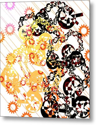 Crosses And Chains  Metal Print by Melissa  Hardiman