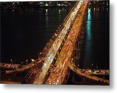 Crowded Bridge Metal Print by SJ. Kim