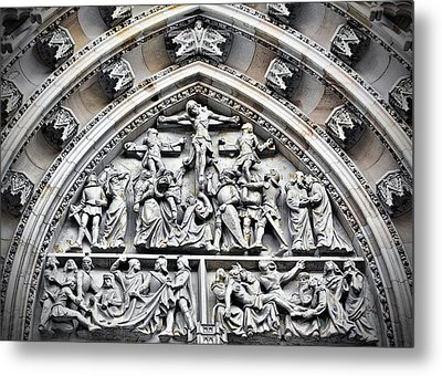 Crucified Christ - Saint Vitus Cathedral Prague Castle Metal Print by Christine Till