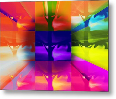 Crucify Metal Print by Susan  Solak