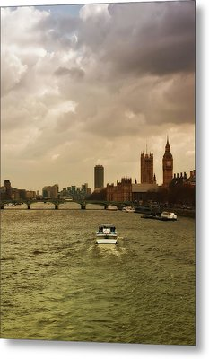 Cruise On River Thames In London - England Metal Print by Alexandre Fundone
