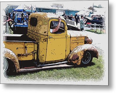 Cruising The Old Chevy Metal Print by Steve McKinzie
