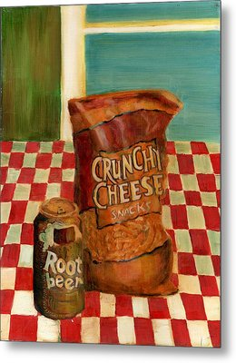 Crunchy Cheese - Summer Metal Print
