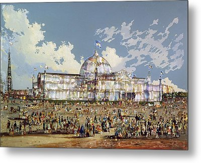 Crystal Palace New York Metal Print by WS Parkes