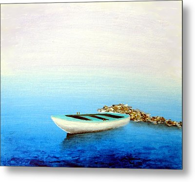 Crystal Water Of The Mediterranean Metal Print by Larry Cirigliano