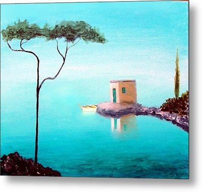 Crystal Waters On The Mediterranean Metal Print by Larry Cirigliano