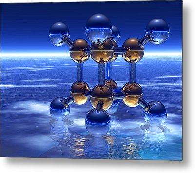 Cubane Molecule Metal Print by Laguna Design