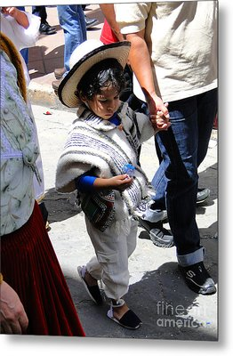 Cuenca Kids 130 Metal Print by Al Bourassa