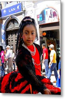Cuenca Kids 186 Metal Print by Al Bourassa