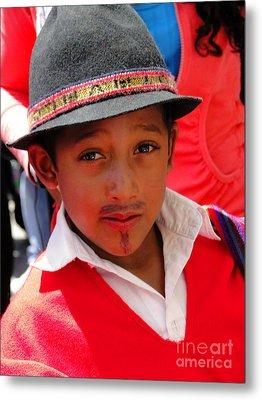 Cuenca Kids 57 Metal Print by Al Bourassa