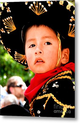 Cuenca Kids 64 Metal Print by Al Bourassa