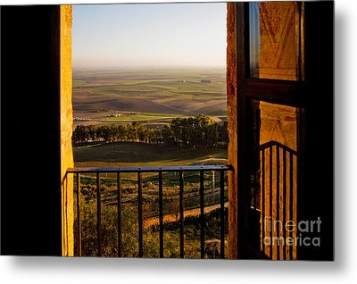 Cultivated Land In Spain Metal Print by Spencer Grant and Photo Researchers