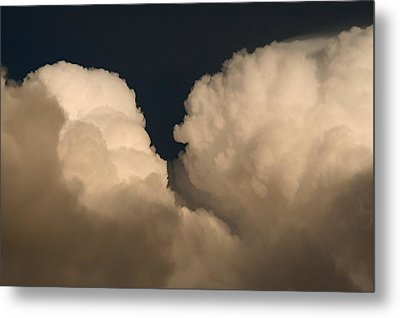 Cumulus Clashers Metal Print by Louise Mingua