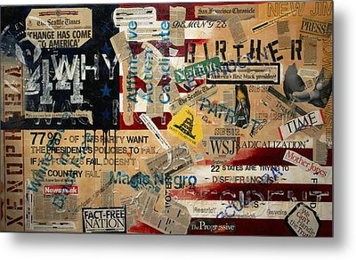 Current Events Metal Print by A Diaz