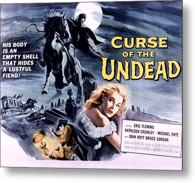 Curse Of The Undead, Kathleen Crowley Metal Print by Everett