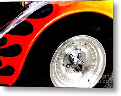 Metal Print featuring the digital art Curves Of Flames by Tony Cooper
