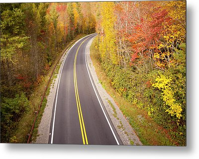 Curvy Road Blue Ridge Parkway, North Carolina Metal Print by Lightvision, LLC