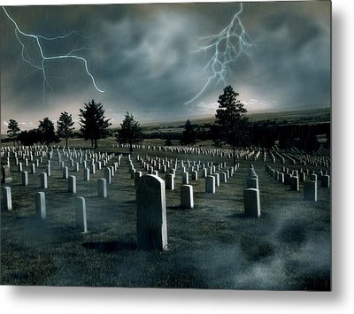 Custer's Last Stand - Battle Of Little Big Horn Metal Print