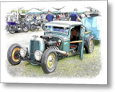 Custom 32 Ford Pickup Metal Print by Steve McKinzie