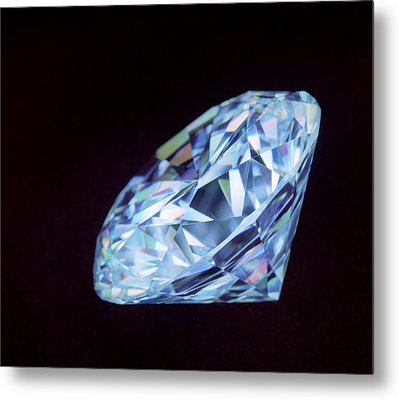 Cut Diamond Metal Print by Lawrence Lawry