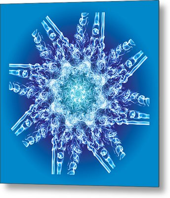 Cyanide Snowflake Metal Print by Val Black Russian Tourchin