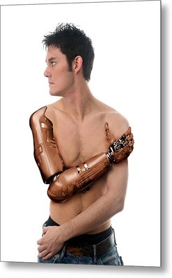 Cybernetic Arm, Composite Image Metal Print by Victor Habbick Visions