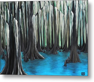 Cypress Spring Metal Print by Holly Donohoe