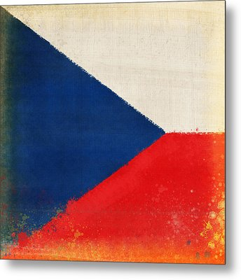Czech Republic Flag Metal Print by Setsiri Silapasuwanchai