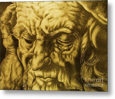 Da Vinci Sketch Metal Print by Pg Reproductions