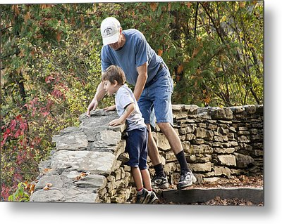 Daddy And Son Metal Print by Darleen Stry