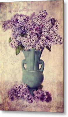 Daddy's Lilacs Series Vi Metal Print by Kathy Jennings