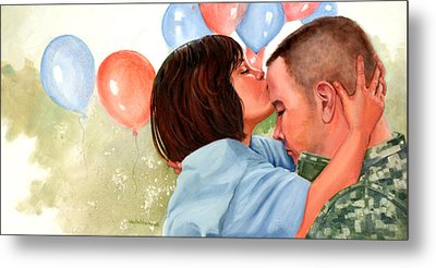 Dady This Is For Luck Metal Print by Wanta Davenport