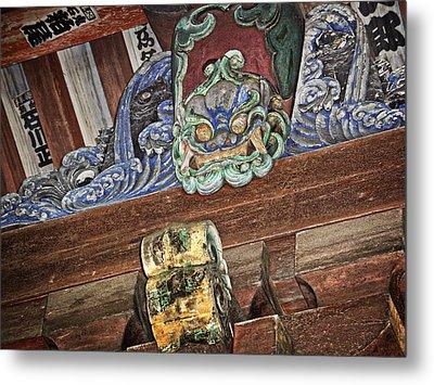 Daigoji Temple Gate Gargoyle - Kyoto Japan Metal Print by Daniel Hagerman