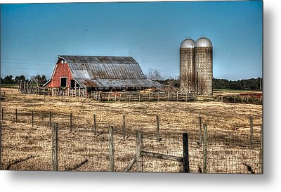Dairy Barn Metal Print by Michael Thomas