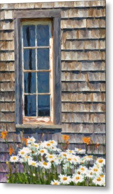 Daisies And Daylilies Metal Print by Verena Matthew