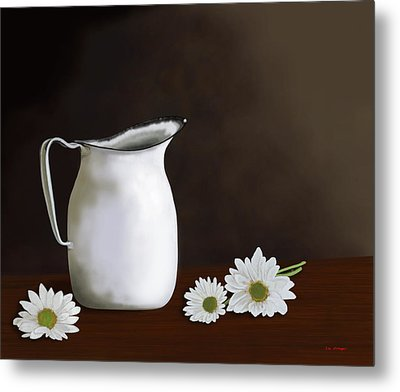 Daisies And Pitcher Metal Print by Tim Stringer