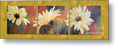 Metal Print featuring the painting Daisies Three by Susan Fisher