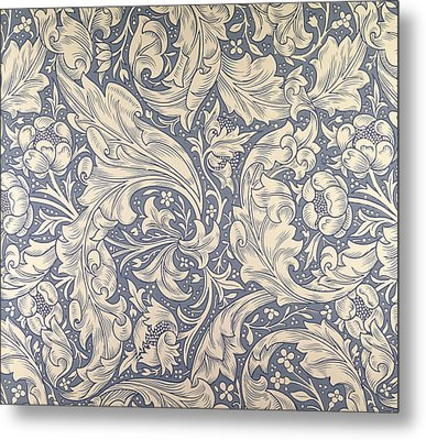 Daisy Design Metal Print by William Morris